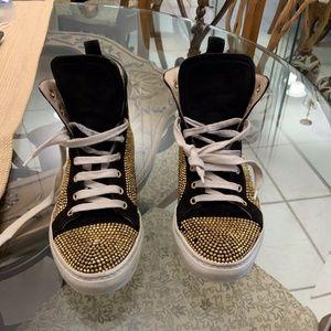Le Silia Swarovski Suede Crystal Sneakers